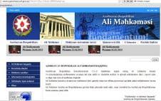 Ali Məhkəməsinin www.supremecourt.gov.az ünvanlı İnternet saytının Monitorinqinin yekunu (İcmal)