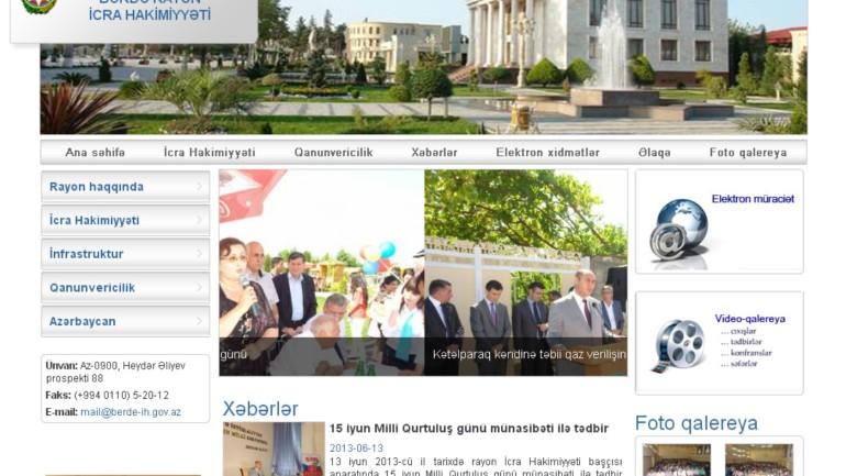 Bərdə Rayon İcra Hakimiyyəti www.berde-ih.gov.az domen adlı İnternet saytının monitorinqinin yekunu  /İCMAL/