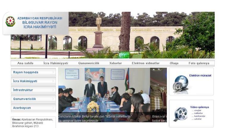 Biləsuvar Rayon İcra Hakimiyyəti www.bilesuvar-ih.gov.az domen adlı İnternet saytının monitorinqinin yekunu /İCMAL/