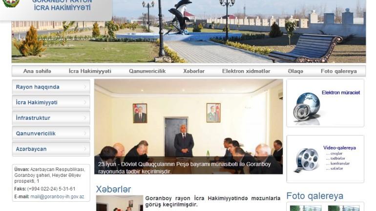 Goranboy Rayon İcra Hakimiyyəti www.goranboy-ih.gov.az domen adlı İnternet saytının monitorinqinin yekunu /İCMAL/