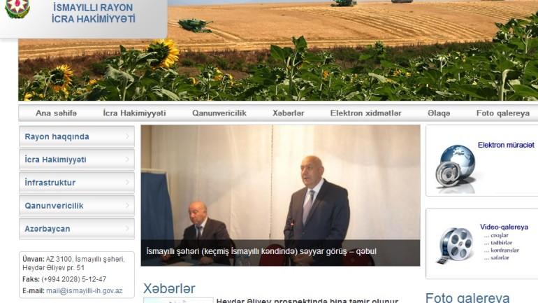 İsmayıllı Rayon İcra Hakimiyyəti www.ismayilli-ih.gov.az domen adlı İnternet saytının monitorinqinin yekunu  /İCMAL/