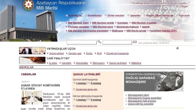 Azərbaycan Respublikası Milli Məclisinin www.meclis.gov.az domen adlı İnternet saytının monitorinqinin yekunu /İCMAL/