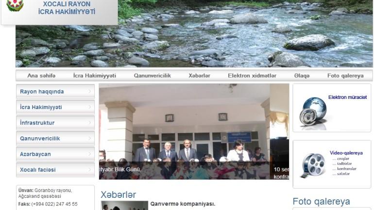 Xocalı Rayon İcra Hakimiyyəti www.xocali-ih.gov.az domen adlı İnternet saytının monitorinqinin yekunu /İCMAL/