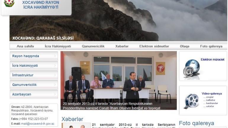 Xocavənd Rayon İcra Hakimiyyəti www.xocavend-ih.gov.az domen adlı İnternet saytının monitorinqinin yekunu  /İCMAL/