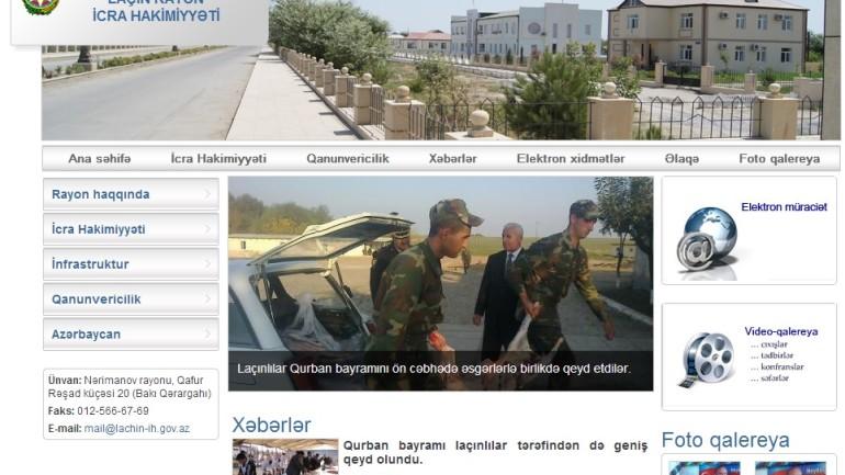 Laçın Rayon İcra Hakimiyyətinin İnternet resursu: www.lachin-ih.gov.az domen adlı İnternet saytının monitorinqinin yekunu /İCMAL/
