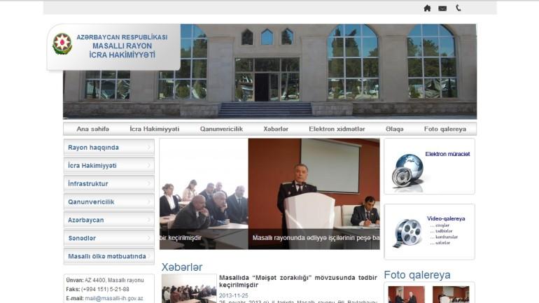 Masallı Rayon İcra Hakimiyyətinin www.masalli-ih.gov.az domen adlı İnternet saytının monitorinqinin yekunu /İCMAL/