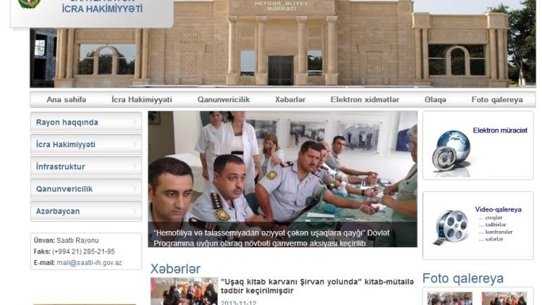 Saatlı Rayon İcra Hakimiyyətinin İnternet resursu: www.saatli-ih.gov.az domen adlı İnternet saytının monitorinqinin yekunu /İCMAL/