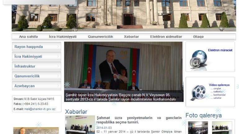 Şəmkir Rayon İcra Hakimiyyəti www.shamkir-ih.gov.az domen adlı İnternet   saytının monitorinqinin yekunu   /İCMAL/
