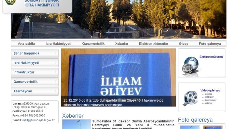 Sumqayıt Şəhər İcra Hakimiyyətinin İnternet resursu: www.sumqayit-ih.gov.az domen adlı İnternet saytının monitorinqinin yekunu /İCMAL/