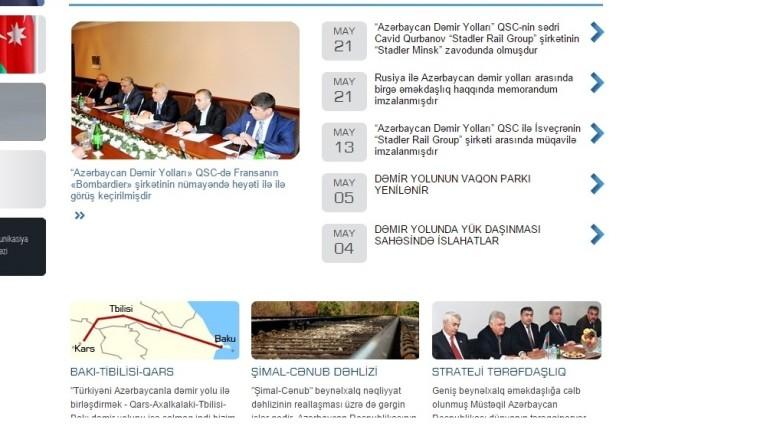 Azərbaycan Dəmir Yolları QSC-nin www.addy.gov.az domen adlı İnternet saytının fəaliyyətinin təkmilləşdirilməsi ilə bağlı TÖVSİYƏLƏR