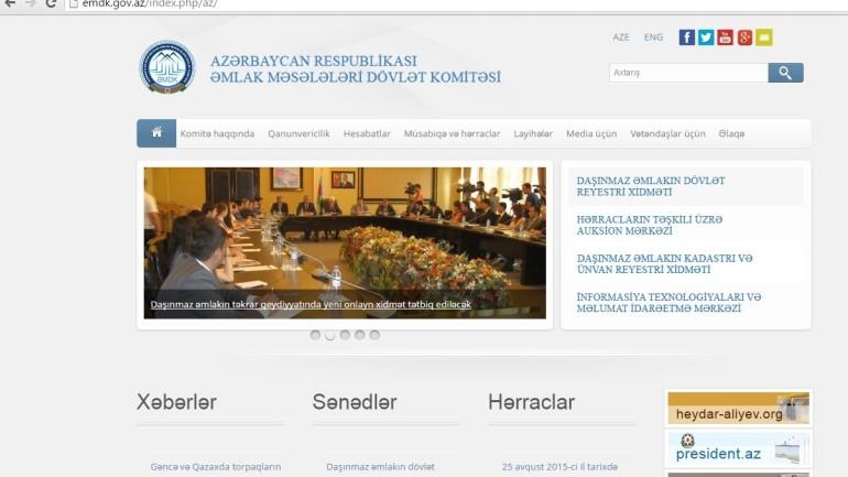 Əmlak Məsələləri Dövlət Komitəsi www.emdk.gov.az domen adlı İnternet saytının fəaliyyətinin təkmilləşdirilməsi ilə bağlı TÖVSİYƏLƏR