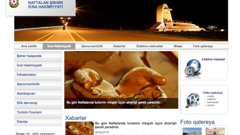 Naftalan Şəhər İcra Hakimiyyəti www.naftalan-ih.gov.az domen adlı İnternet saytının monitorinqinin yekunu /İCMAL/