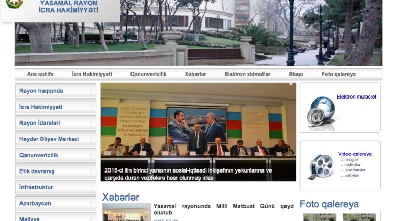Yasamal Rayon İcra Hakimiyyəti www.yasamal-ih.gov.az domen adlı İnternet saytının monitorinqinin yekunu /İCMAL/