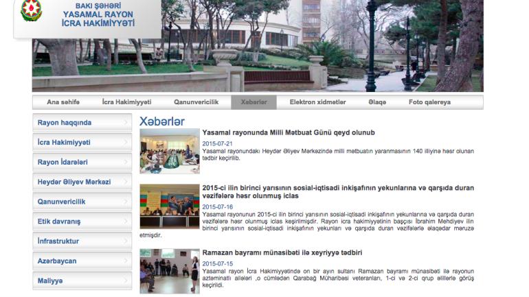 Yasamal Rayon İcra Hakimiyyəti www.yasamal-ih.gov.az domen adlı İnternet saytının fəaliyyətinin təkmilləşdirilməsi ilə bağlı TÖVSİYƏLƏR