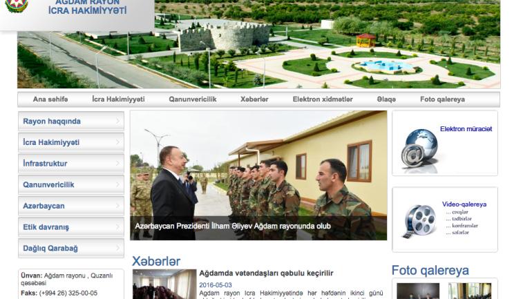 Ağdam Rayon İcra Hakimiyyəti www.agdam-ih.gov.az domen adlı İnternet saytının monitorinqinin yekunu /İCMAL/