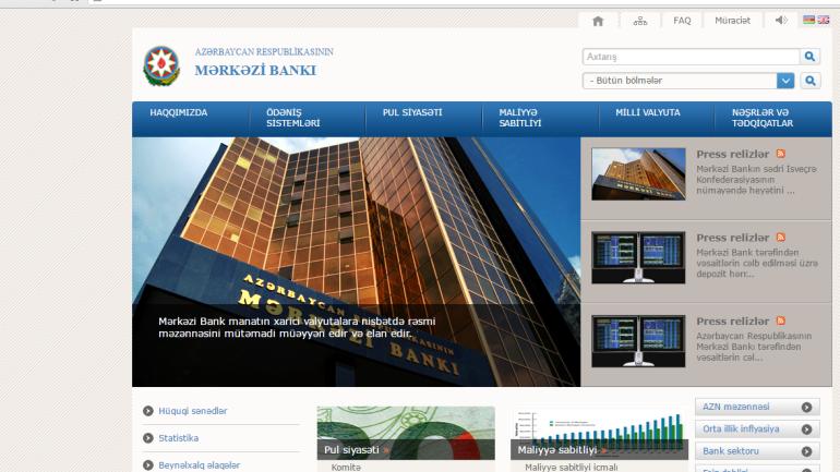 Mərkəzi Bankının www.cbar.az domen adlı İnternet saytının monitorinqinin yekunu /İCMAL/