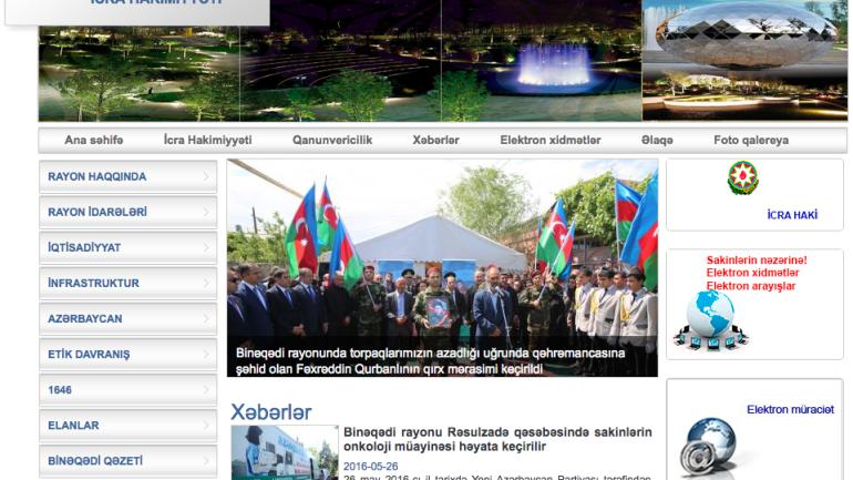 Binəqədi Rayon İcra Hakimiyyəti www.binegedi-ih.gov.az domen adlı İnternet saytının monitorinqinin yekunu /İCMAL/
