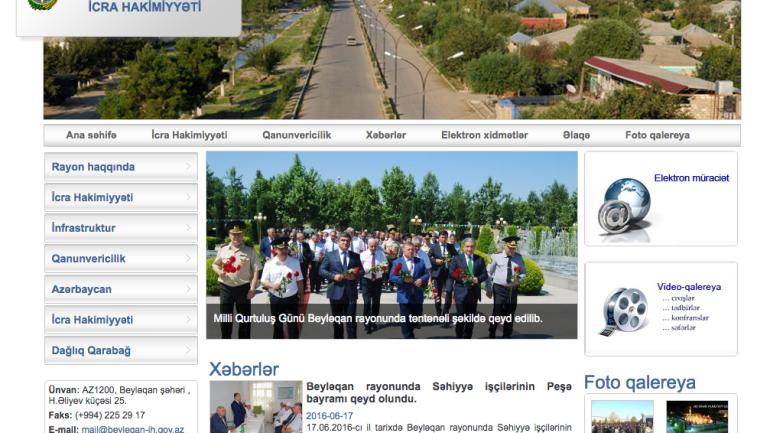 Beyləqan Rayon İcra Hakimiyyəti www.beyleqan-ih.gov.az domen adlı İnternet saytının monitorinqinin yekunu /İCMAL/
