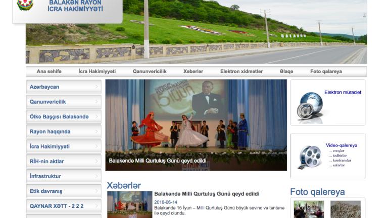 Balakən Rayon İcra Hakimiyyəti www.balaken.gov.az domen adlı İnternet saytının monitorinqinin yekunu /İCMAL/