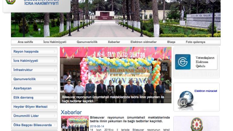 Biləsuvar Rayon İcra Hakimiyyəti www.bilesuvar.gov.az domen adlı İnternet saytının monitorinqinin yekunu /İCMAL/