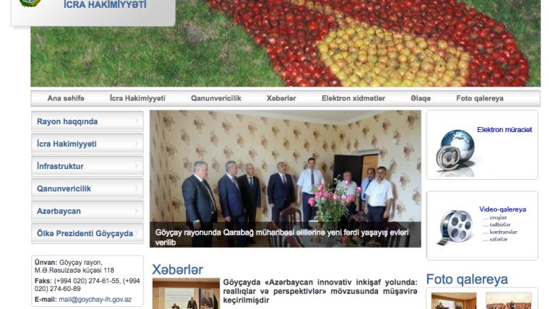 Göyçay Rayon İcra Hakimiyyəti www.goychay-ih.gov.az domen adlı İnternet saytının monitorinqinin yekunu /İCMAL/