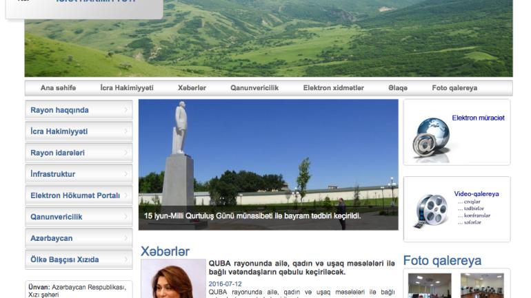 Xızı Rayon İcra Hakimiyyəti www.khizi-ih.gov.az domen adlı İnternet saytının monitorinqinin yekunu /İCMAL/