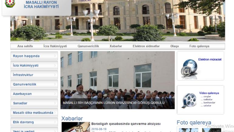 Masallı Rayon İcra Hakimiyyəti www.masalli-ih.gov.az domen adlı İnternet saytının monitorinqinin yekunu /İCMAL/
