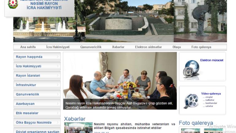 Nəsimi Rayon İcra Hakimiyyəti www.nasimi-ih.gov.az domen adlı İnternet saytının monitorinqinin yekunu /İCMAL/