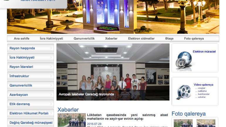 Qaradağ Rayon İcra Hakimiyyəti www.qaradagh-ih.gov.az domen adlı İnternet saytının monitorinqinin yekunu /İCMAL/