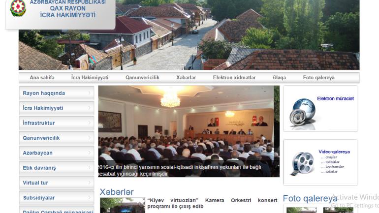 Qax Rayon İcra Hakimiyyəti www.qax-ih.gov.az domen adlı İnternet saytının monitorinqinin yekunu /İCMAL/