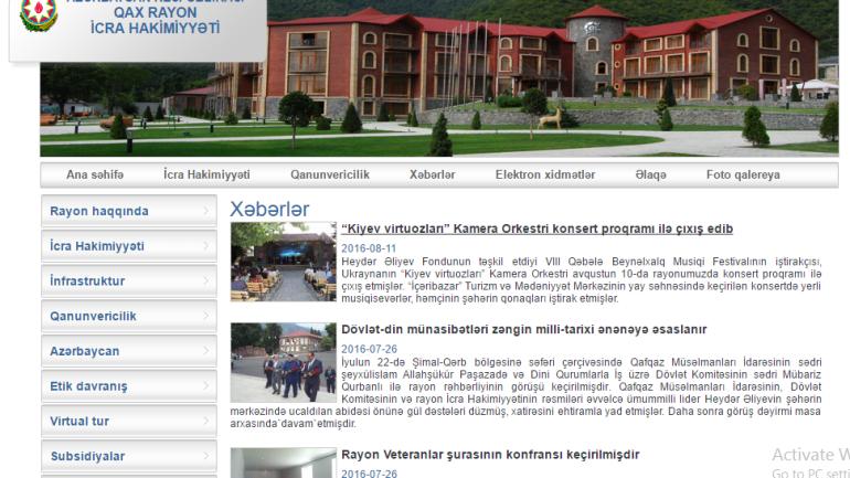 Qax Rayon İcra Hakimiyyəti www.qax-ih.gov.az domen adlı İnternet saytının fəaliyyətinin təkmilləşdirilməsi ilə bağlı TÖVSİYƏLƏR