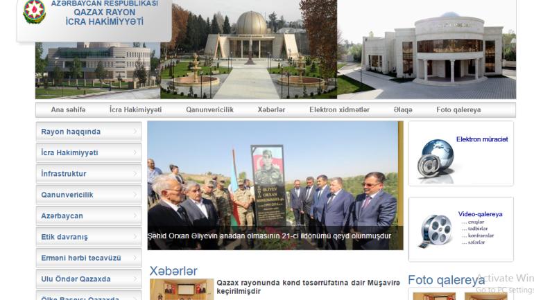 Qazax Rayon İcra Hakimiyyəti www.qazax-ih.gov.az domen adlı İnternet saytının monitorinqinin yekunu /İCMAL/