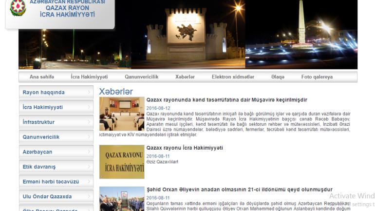 Qazax Rayon İcra Hakimiyyəti www.qazax-ih.gov.az domen adlı İnternet saytının fəaliyyətinin təkmilləşdirilməsi ilə bağlı TÖVSİYƏLƏR