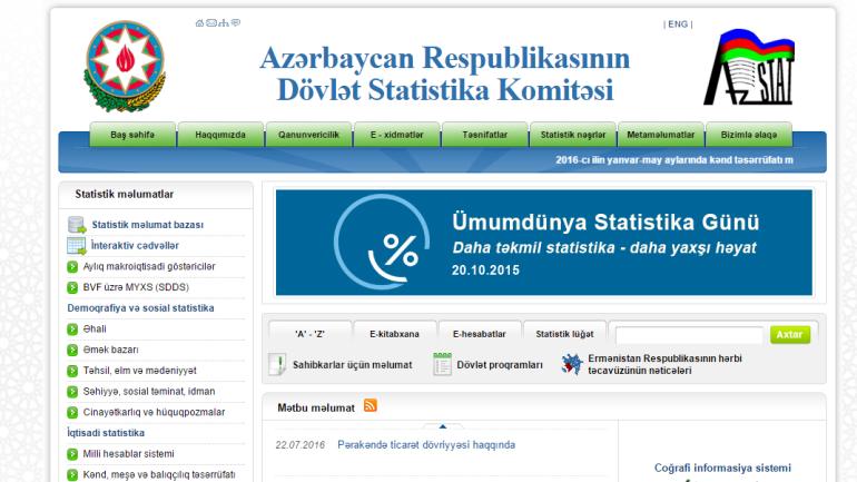 Dövlət Statistika Komitəsinin www.stat.gov.az  domen adlı internet saytının təkmilləşdirilməsi ilə bağlı TÖVSİYƏLƏR