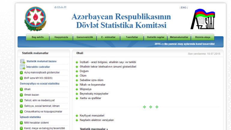 Dövlət Statistika Komitəsinin www.stat.gov.az  domen adlı İnternet saytının monitorinqinin yekunu /İCMAL/