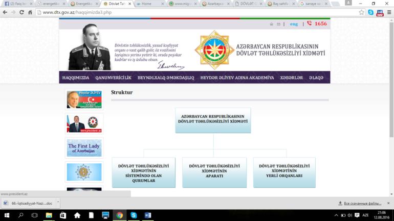 Dövlət Təhlükəsizliyi Xidmətinin www.dtx.gov.az domen adlı İnternet saytının monitorinqinin yekunu /İCMAL/