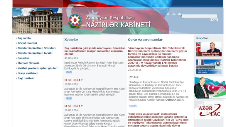 Nazirlər Kabinetinin www.cabmin.gov.az domen adlı internet saytının fəaliyyətinin təkmilləşdirilməsi ilə bağlı TÖVSİYƏLƏR