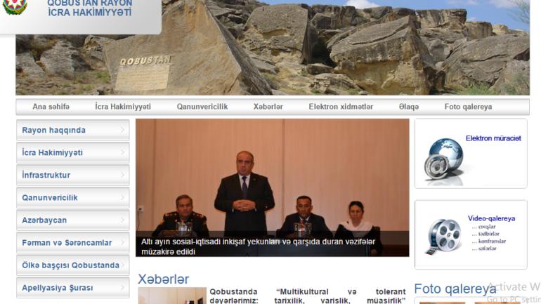 Qobustan Rayon İcra Hakimiyyəti www.qobustan-ih.gov.az domen adlı İnternet saytının monitorinqinin yekunu /İCMAL/