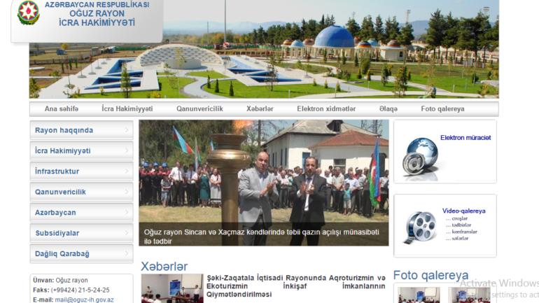 Oğuz Rayon İcra Hakimiyyəti www.oguz-ih.gov.az domen adlı İnternet saytının monitorinqinin yekunu /İCMAL/