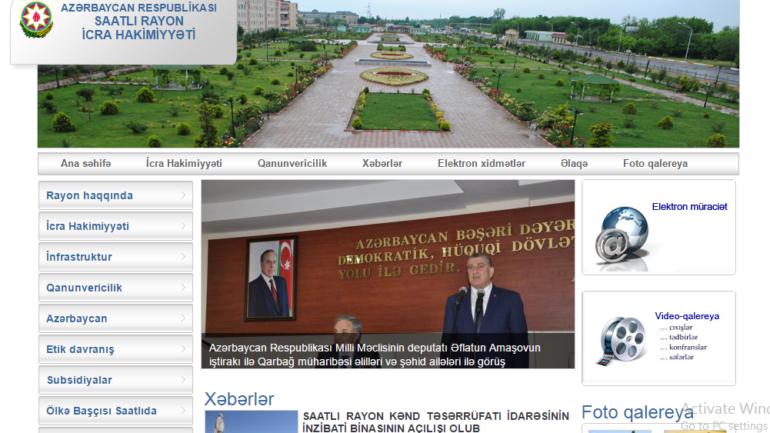 Saatlı Rayon İcra Hakimiyyəti www.saatli-ih.gov.az domen adlı İnternet saytının fəaliyyətinin təkmilləşdirilməsi ilə bağlı TÖVSİYƏLƏR