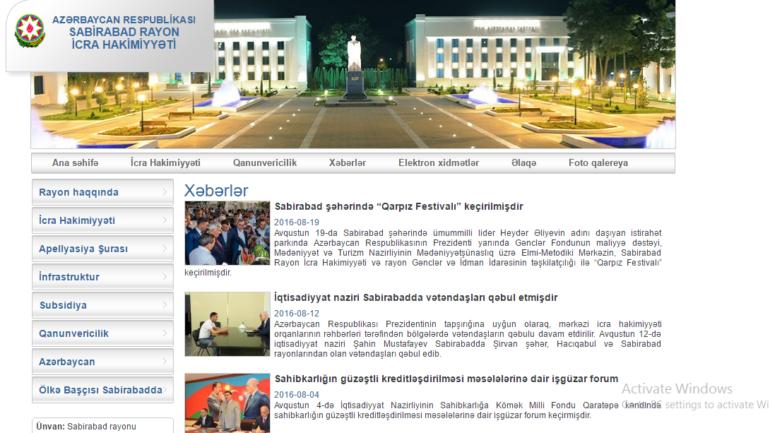 Sabirabad Rayon İcra Hakimiyyəti www.sabirabad-ih.gov.az domen adlı İnternet saytının fəaliyyətinin təkmilləşdirilməsi ilə bağlı TÖVSİYƏLƏR