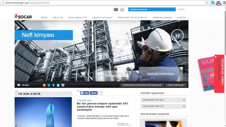 Dövlət Neft Şirkətinin www.socar.gov.az domen adlı İnternet saytının monitorinqinin yekunu /İCMAL/