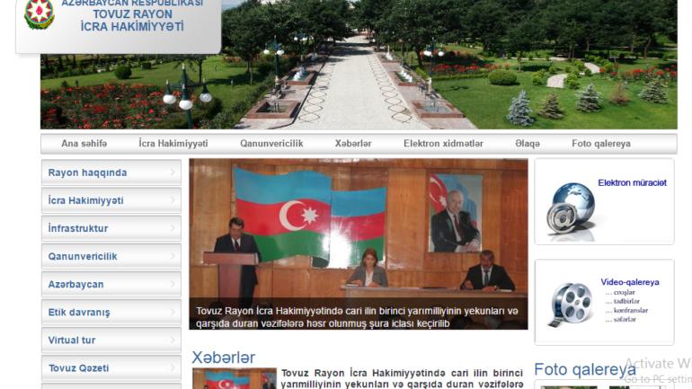 Tovuz Rayon İcra Hakimiyyəti www.tovuz-ih.gov.az domen adlı İnternet saytının monitorinqinin yekunu /İCMAL/