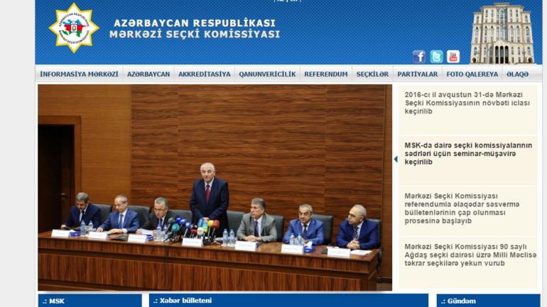 Mərkəzi Seçki Komissiyasının www.msk.gov.az domen adlı İnternet saytının monitorinqinin yekunu /İCMAL/