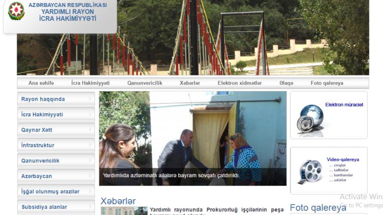 Yardımlı Rayon İcra Hakimiyyəti www.yardimli-ih.gov.az domen adlı İnternet saytının monitorinqinin yekunu /İCMAL/