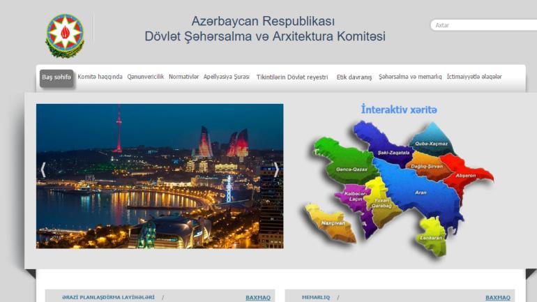 Dövlət Şəhərsalma və Arxitektura Komitəsinin www.arxkom.gov.az domen adlı İnternet saytının monitorinqinin yekunu /İCMAL/