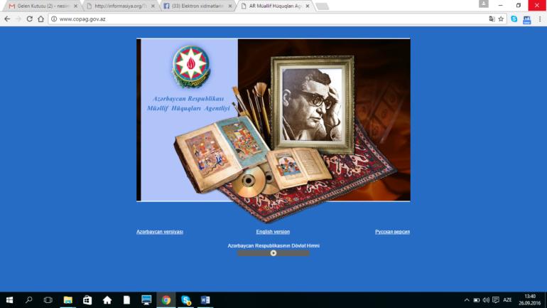 Müəllif Hüquqları Agentliyinin www.copag.gov.az domen adlı İnternet saytının monitorinqinin yekunu /İCMAL/