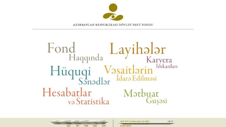 Dövlət Neft Fondunun www.oilfund.az domen adlı internet saytının təkmilləşdirilməsi ilə bağlı  TÖVSİYYƏLƏR