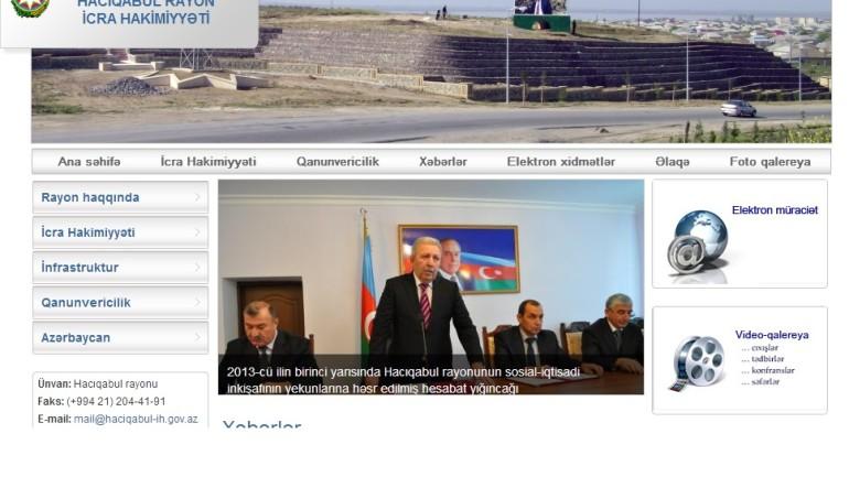 Hacıqabul Rayon İcra Hakimiyyəti www.haciqabul-ih.gov.az domen adlı İnternet saytının monitorinqinin yekunu  /İCMAL/
