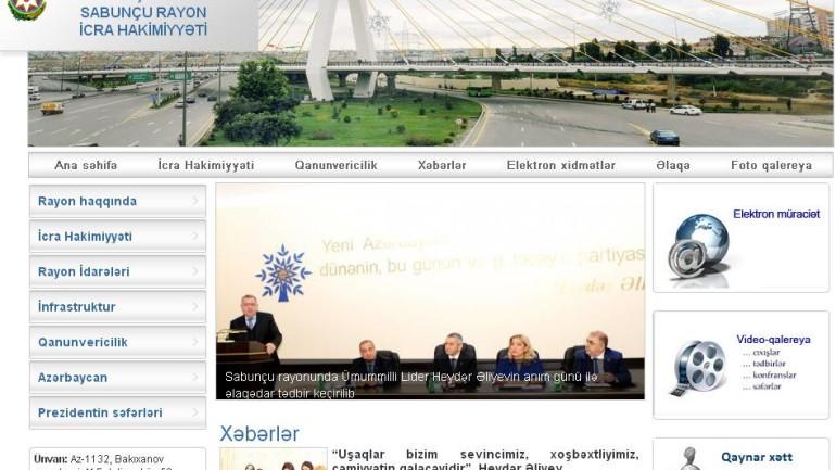 Sabunçu Rayon İcra Hakimiyyəti www.sabunchu-ih.gov.az  domen adlı İnternet saytının monitorinqinin yekunu   /İCMAL/